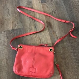 Fossil Pebbled Cowhide Leather Crossbody purse